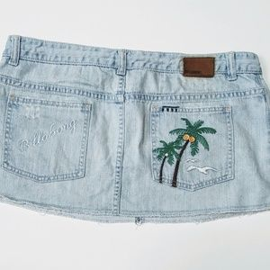 Billabong Jean Skirt